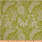 UN-766 Waverly Garden Flurry Jacquard Honeydew
