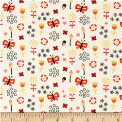 Birds of A Feather Butterflies Cream