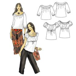 Hot Patterns Bo-Ho-De-Luxe Peasant Tops Pattern