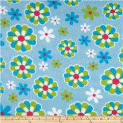 Fleece Daisies Blue