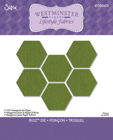 "Sizzix Bigz Die 1 1/2"" Hexagons"