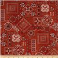 American Beauty Bandana Allover Red
