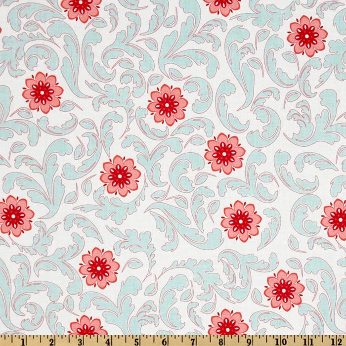 Verona Damask Ivory/Rouge