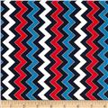 Patriotic Pop Metallic Chevron Navy