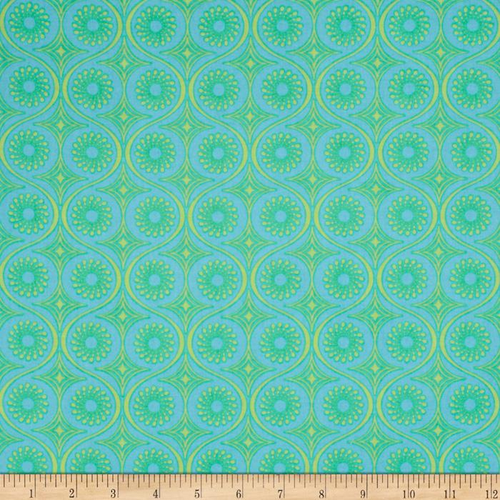 Frippery Swirl Dots Teal