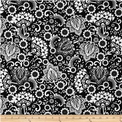 Riley Blake Evening Blooms Large Floral Black