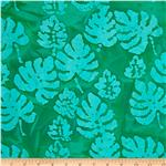 Indian Batik Corfu Leaf Teal