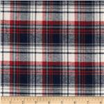 0280835 Designer Yarn Dyed Flannel Plaid Navy/Red/Cream