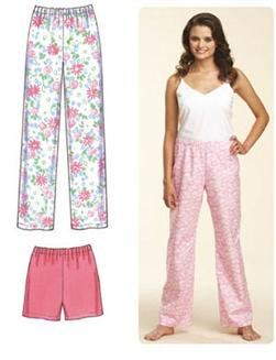 Kwik Sew Sleep Pants and Shorts Pattern