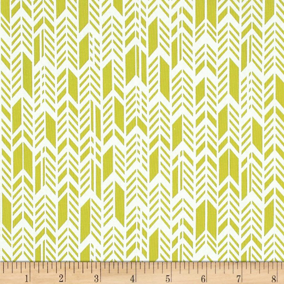 Sunprint Feathers Acid Green
