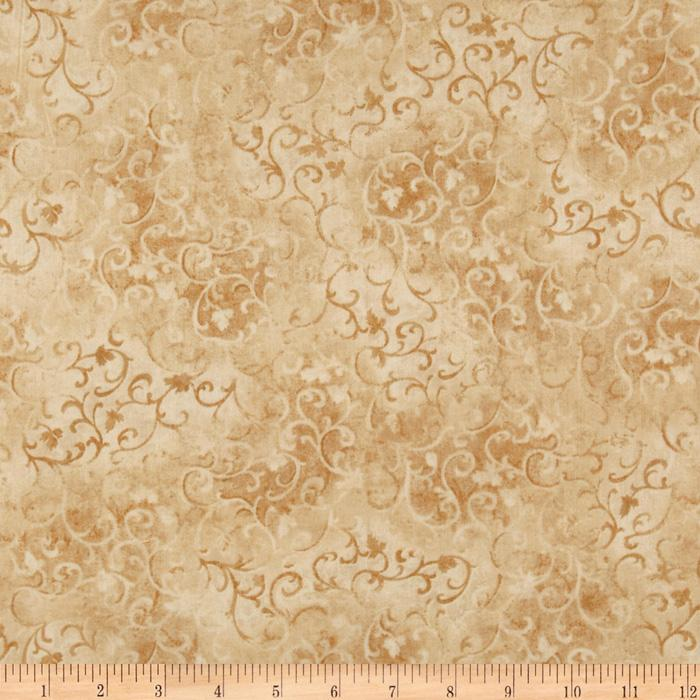 108&quot; Essential Scroll Quilt Backing Quilt Backing Tan
