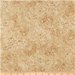 208498 108&quot; Essential Scroll Quilt Backing Quilt Backing Tan