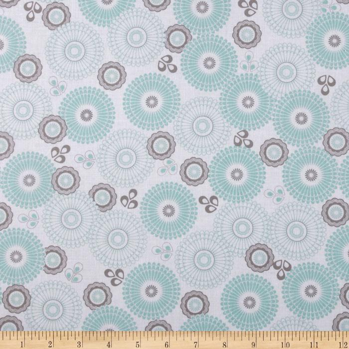 Riley Blake Willow Large Medallion Green
