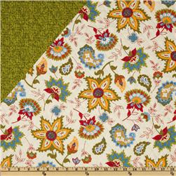Dilly Day Double-Sided Quilted Floral/Blender Green/White