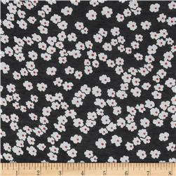 Chiffon Small Floral Black/White
