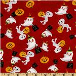 Trick or Treat Tossed Mummies &amp; Ghosts Red