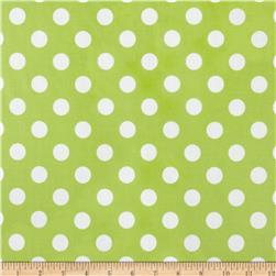 Riley Blake Laminated Cotton Medium Dots Lime/White