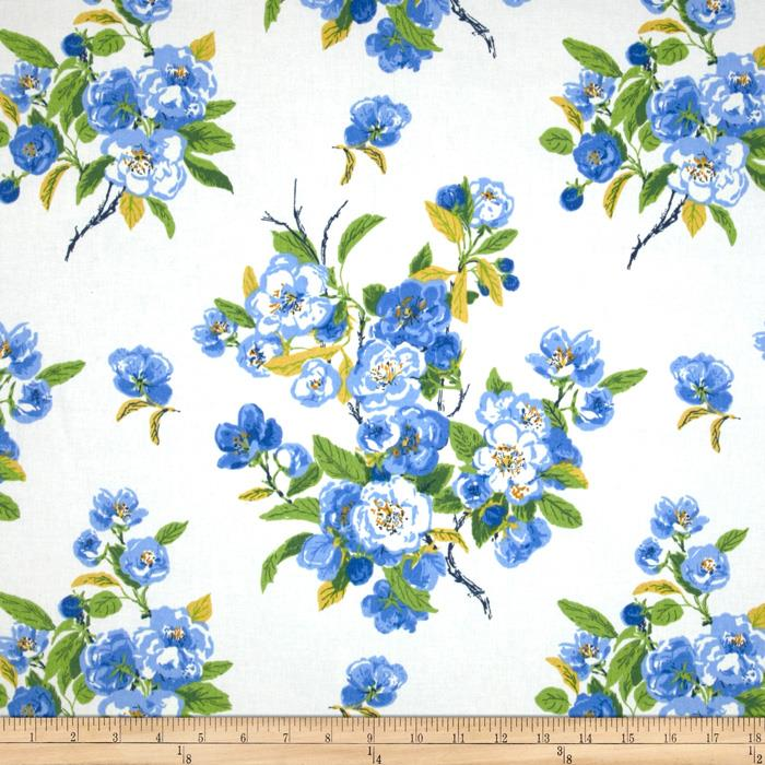 Waverly Primrose Patio Twill Blueberry