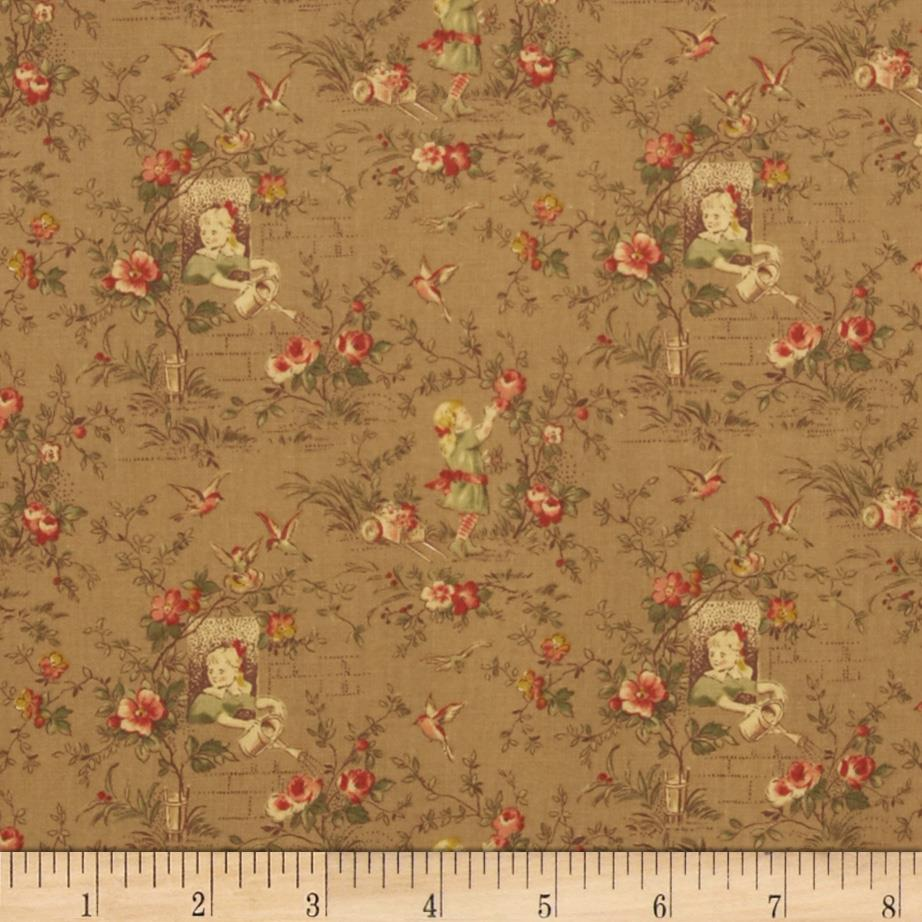 Desired Things Floral Garden Khaki