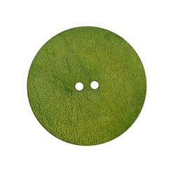 2'' Leather Button Round Green
