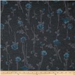 0281309 Rayon Blend Brushed Interlock Knit Floral Grey