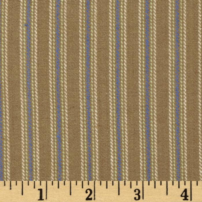 Yarn Dyed Fun Flannel Stripe Taupe
