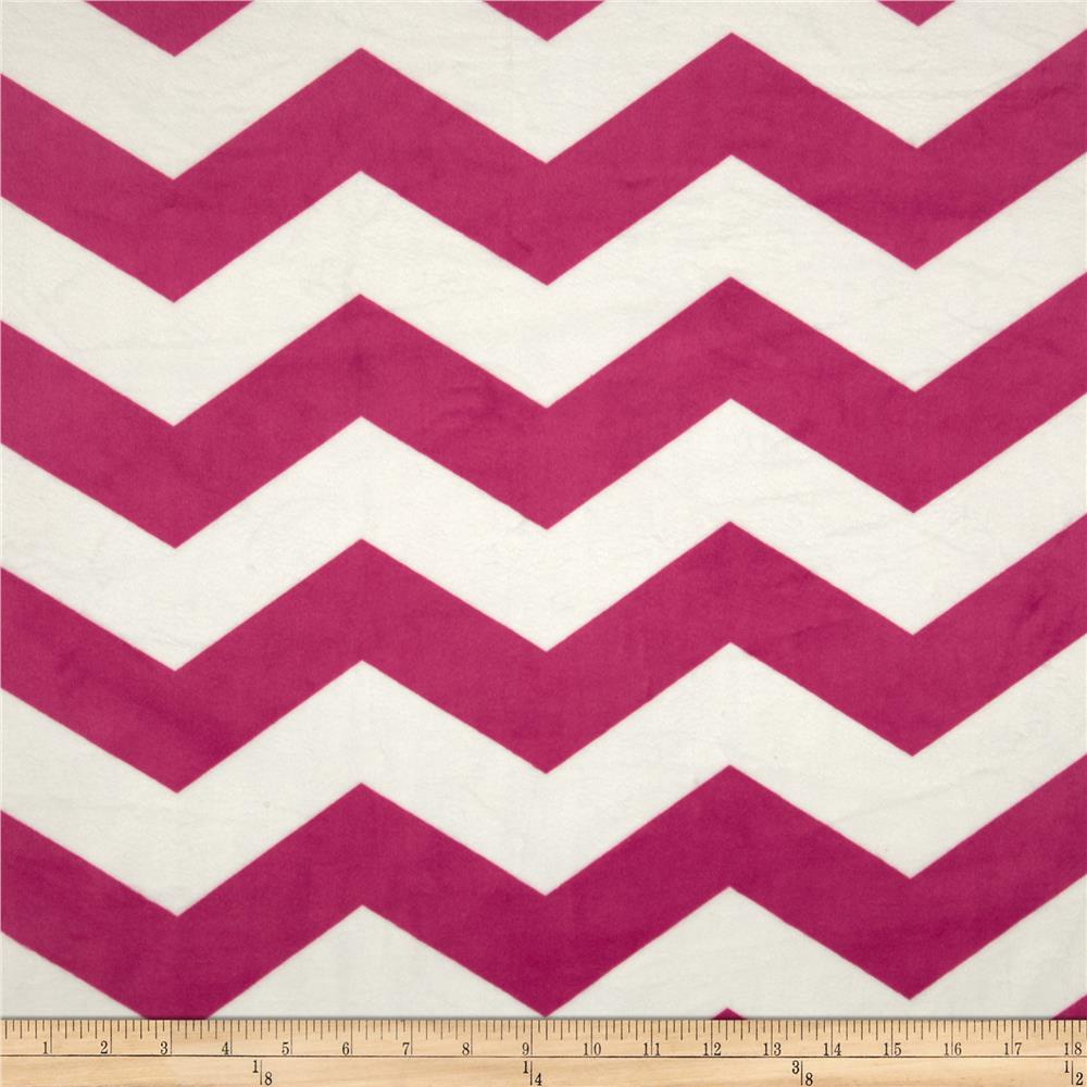 Minky Cuddle Chevron Hot Pink