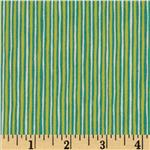 0273594 Moda Mind Your P's & Q's Stripes Chartreuse/Teal