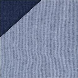 Double Cloth Knit Blue/Grey