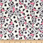 0274595 Pretty Sporty Soccer Balls Pink