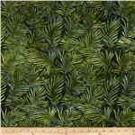 0274465 Artisan Batiks: Totally Tropical 2 Ferns Bermuda Green