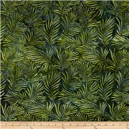 Artisan Batiks: Totally Tropical 2 Ferns Bermuda Green
