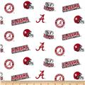 University of Alabama Collegiate Cotton Broadcloth Red/White