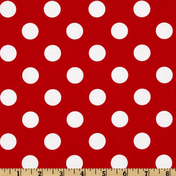 Riley Blake Dots Medium Red