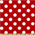 203977 Riley Blake Dots Medium Red