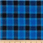 0277505 Yarn Dyed Flannel Plaid Blue/Black