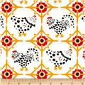 Fowl Play Chicken Tiles Ivory