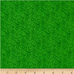 Tone on Tone Small Damask Green