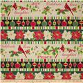 Christmas Carols Metallics Border Stripe