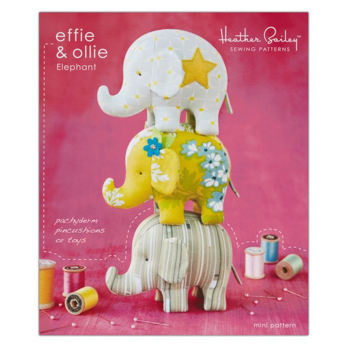Heather Bailey Effie &amp; Ollie Elephant Toy Pattern