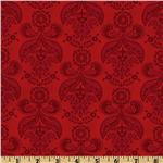 Picadilly Lane Damask Crimson