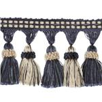 World Wide Malibu Tassel Fringe Navy/Ivory