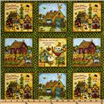 223867 Home Sweet Home Home Patchwork Green