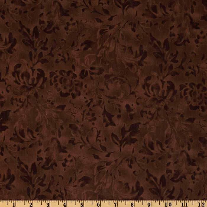 108'' Wide Essential Floral Texture Brown