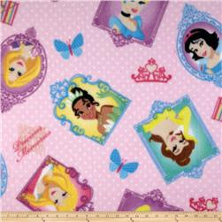 Disney Fleece Princess In Frame Pink