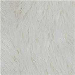 Faux Fur Long Shag White