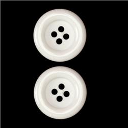 Fashion Button 7/8'' Pizazz White