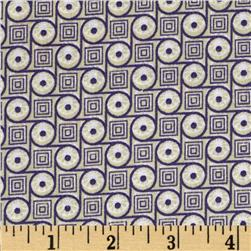 Geo Circles & Squares Light Plum