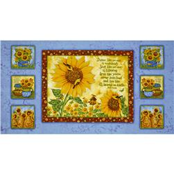 Sunny  Blossoms Sunflower Panel Multi