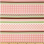 EE-914 Sew Cherry Border Stripe Pink